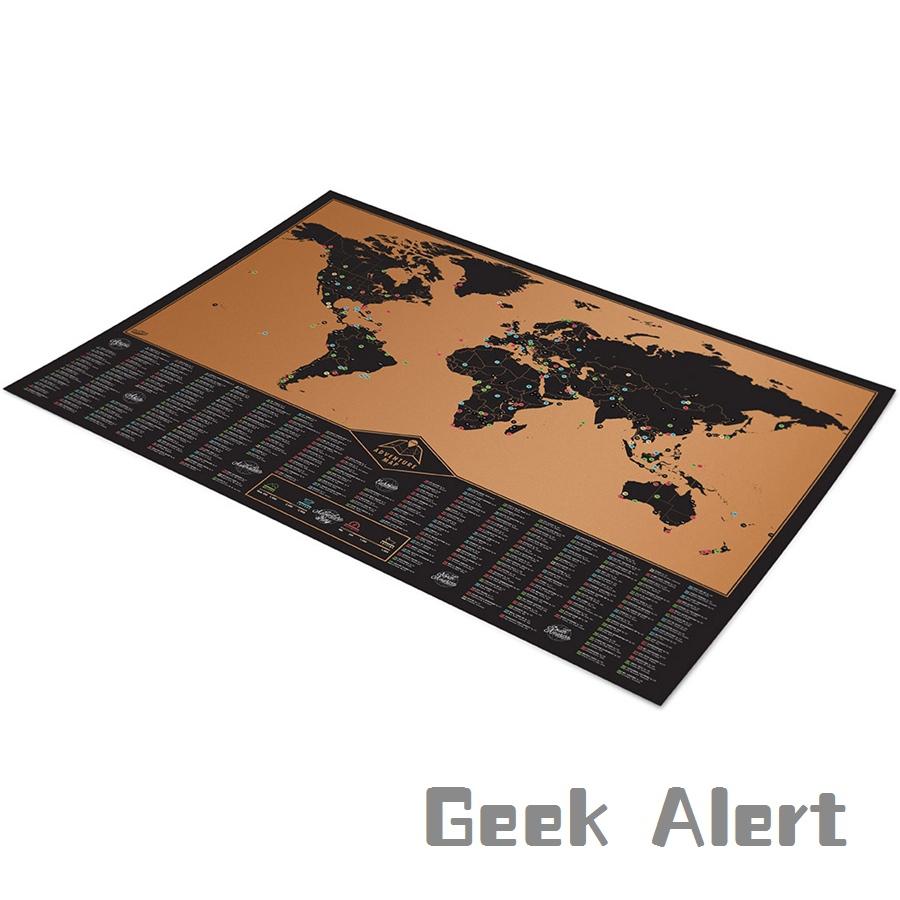 Проезд скретч-карта карта мира для путешественника