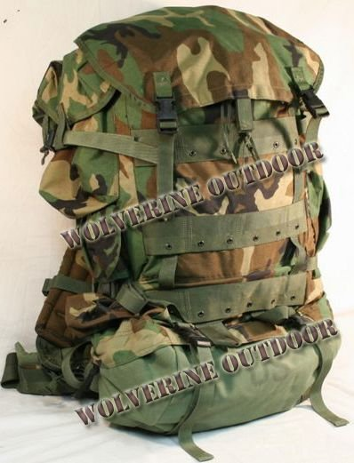 55 L Army Molle Assault Backpack Military Rucksack Pack 82017 (Camo Woodland Bag Backpack)