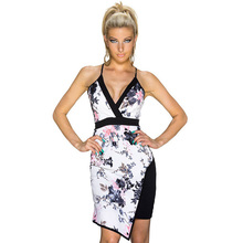 Buy RS80347/RS80348  Summer Sexy Dresses Hot Two Style Halter Dress V-neck Sexy Dress Summer Sleeveless Sheath Bodycon Dress