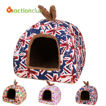 Actionclub Dog House Fashion Small Pets House Union Flag New Arrival Puppy Beds For Pets Beds Cats Dog House Free Shipping HP352(China (Mainland))