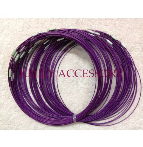 18Inch 300Pcs Deep Purple Steel Wire Memory Torques Necklace Wires Choker Jewelry Diy Cords Ropes(China (Mainland))