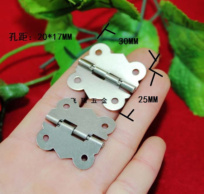 30 * 25mm butterfly hinge white wooden packing boxes hinge connecting piece 90 fixed buckle clasp hinge after deduction(China (Mainland))