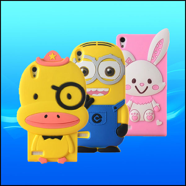 Free shipping wholesale mobile phone 3D cute silicone case for huawei ascend p6(China (Mainland))