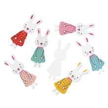 Buy 8SEASONS Wood Charm Pendants Rabbit Skirt Animal Random 5.4cm x 19mm,50 PCs 2016 new for $5.54 in AliExpress store