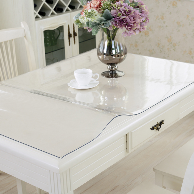 100x100cm waterproof clear pvc tablecloth protector table linens cover cloth home dining table - Protector de mesa ...