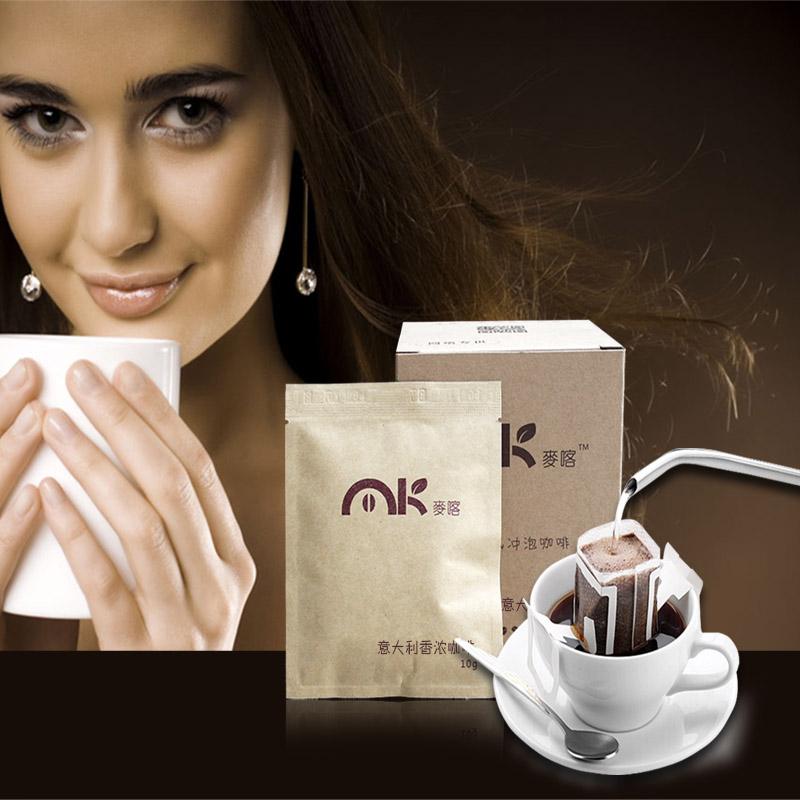 Italian coffee hanging ears Sugar free coffee black pure coffee powder imported 100 g free shipping