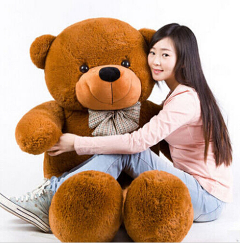[5COLORS] Giant teddy bear 180cm huge big stuffed plush animals toy factory direct toys for kids dolls for girls valentine gift(China (Mainland))