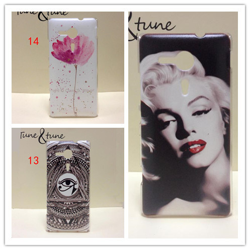 For Sony Xperia SP M35h case ,New Painting Hard PC Plastic Phone Case For Sony Xperia SP M35h Back Cover+Screen protector(China (Mainland))