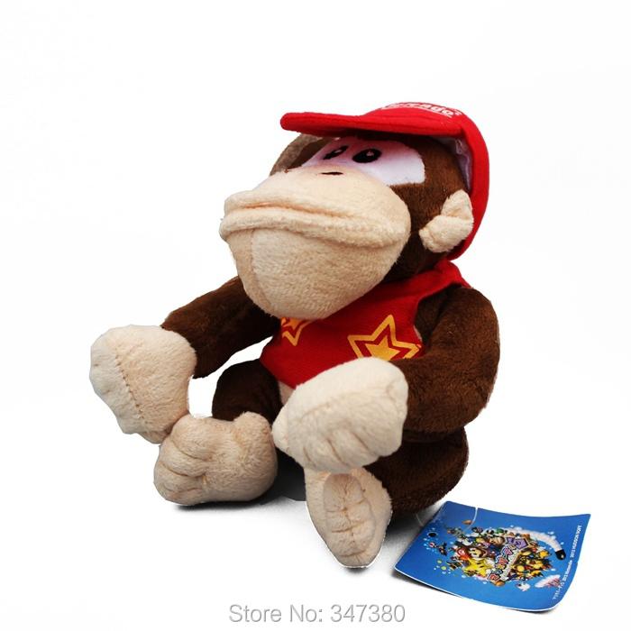 High Quality 10pcs/lot Super Mario Diddy Kong 15cm Plush Doll Soft Toy Kids Stuffed Animals(China (Mainland))