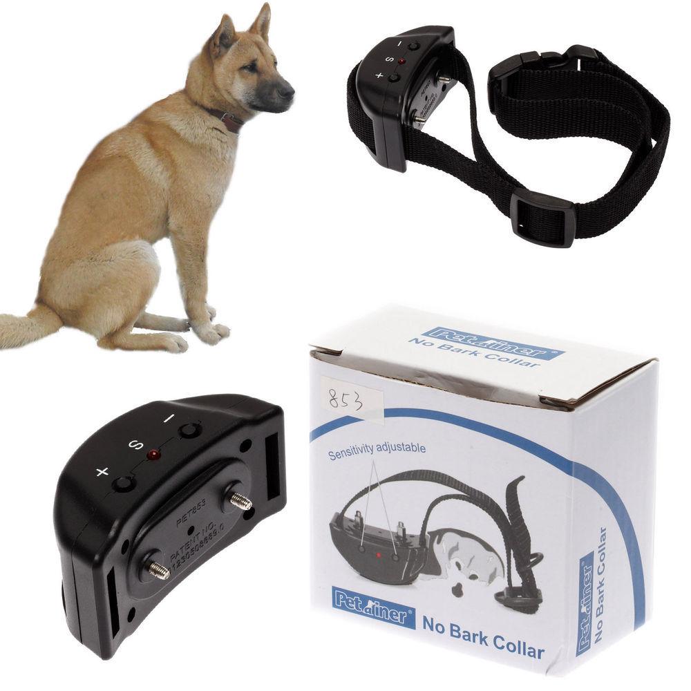 2015 NEW Arrival Anti&No Bark Stop Barking Tone Shock Control Training Collar Small Medium Dog(China (Mainland))