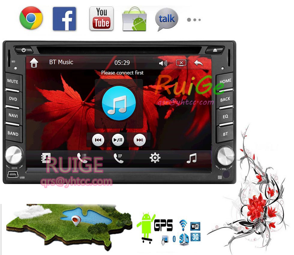 The in-dash car android-4.2 - 2 Double Din Radio GPS Navi dvd-player stereo head unit Video BT Car PC CD wi-fi 3g Parking()