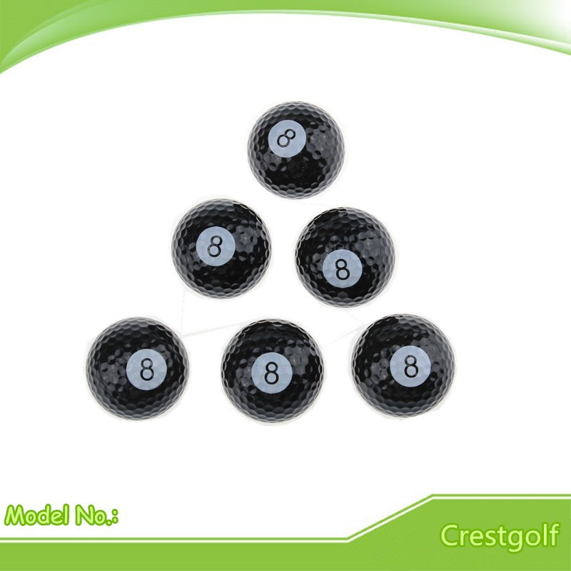 Retail 6pcs/lot Billiards Golf balls Two Layer Golf practice Balls free shipping(China (Mainland))