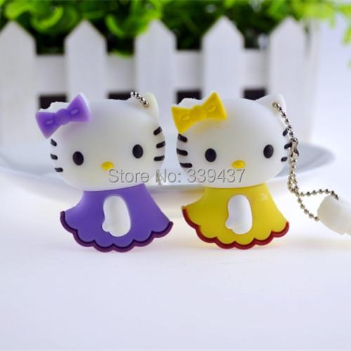 Real capacity flash drive Plastic mini USB drives Cute anime cartoon hello kitty pendrives 4GB/8GB/16GB/32GB Gift flash memory(China (Mainland))