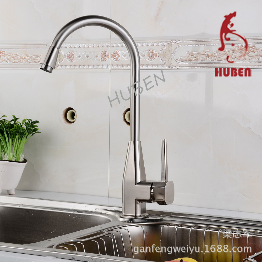 Tiger Ben Full copper faucet kitchen faucet Caipen leader Big Bend rotatable faucet sink faucet hot and cold<br><br>Aliexpress