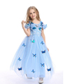 Dream Cinderella Girls Wedding Dress Kids Clothes Baby Girl Princess Cosplay Girl Costume Elsa Anna Party