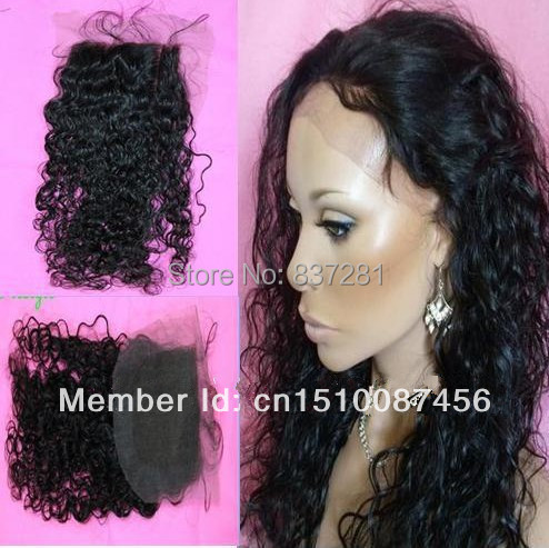 4X4 culy brazilian hair closure bleached knots 100% human black  -  Flower factory store