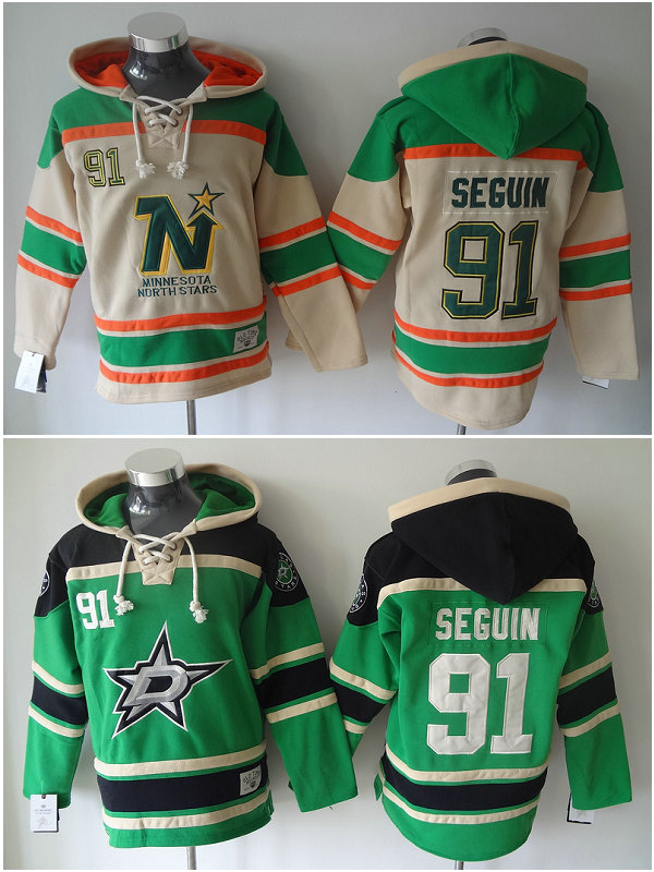 New 91 Tyler Seguin Mens Ice Hockey Hoodies Long Sleeve Warm Dallas Stars Hooded Sweatshirt Embroidery Name(China (Mainland))