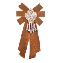 ZHINI Bow Spille Classic Retro del Panno nodo Dichiarazione di Moda Dei Monili Delle Donne di Stile Cinese Fatti A Mano Spilla Clip Up Spille Collare(China)