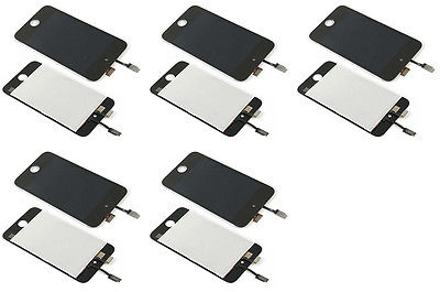 5 PACK LOT Black Touch Screen Digitizer LCD Display for iPod Touch 4 A1367(China (Mainland))