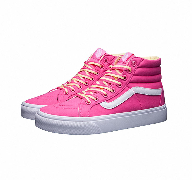 Vans woman lovely pink year of the monkey sk8-hi slim high-top canvas shoes for female skateboarding sneakers free shipping(China (Mainland))