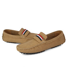 Hot sale spring and autumn new nubuck leather Moccasins male breathable genuine leather casual shoes large size man shoes 46-48(China (Mainland))