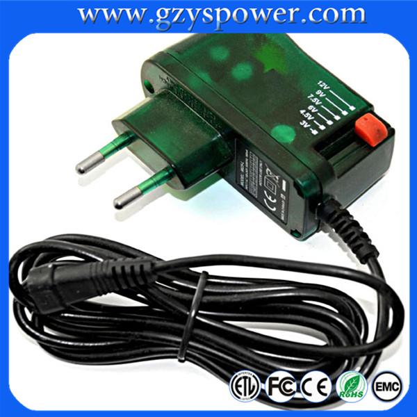 adjustable power supply 3-12V switching power adapter 3V,5V,6V,7.5V,9V,12V adjustable Switching Power Supply(China (Mainland))