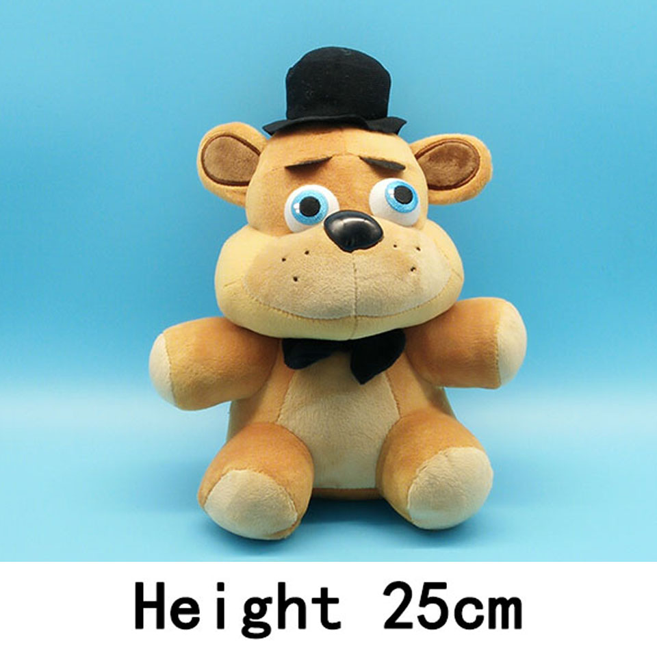 25cm Five Nights At Freddy's 4 FNAF Bonnie Foxy Freddy Fazbear Bear Plush Toys Doll 18cm 25cm Plush Toys Whloease(China (Mainland))
