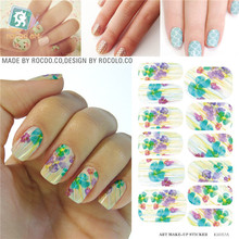 Manicure Decorations Makeup Tools Water Transfer Nail Sticker 3d Nail Art Foil Decals Patch Solvent Resistant Stickers KH017A