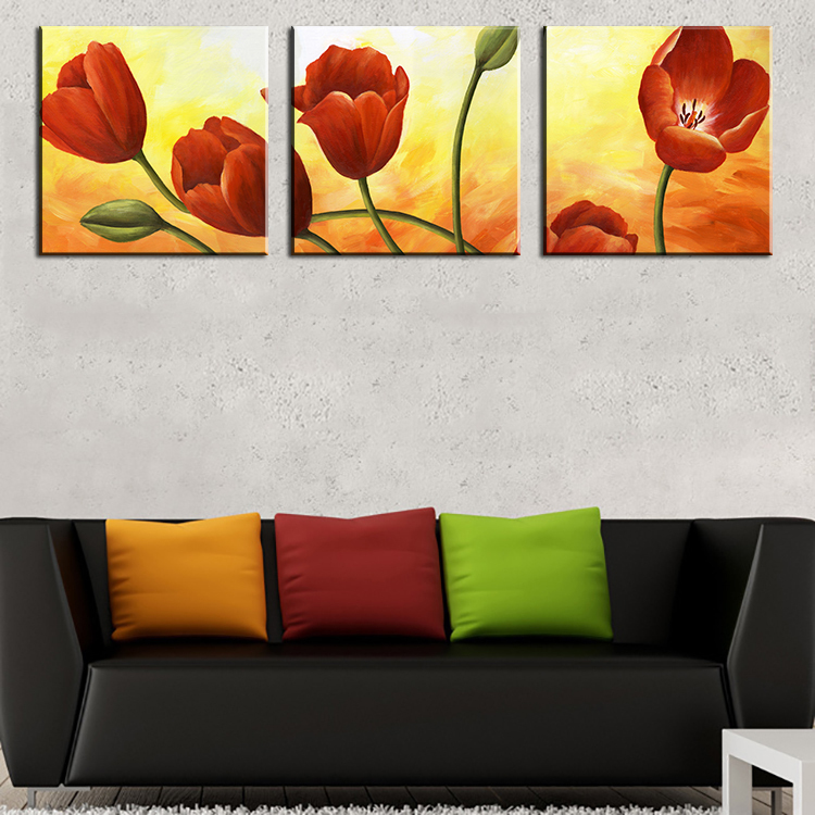 3 canvas art ideas printed flower canvas art with