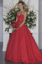 2017 Newest Wedding Dresses Plus Size Full Red Lace Detachable Train Spaghetti Straps Sheath Custom Made Fromal Bridal Gowns(China (Mainland))
