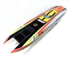 Genesis 1122 Catamaran Racing Boat/ Electric Brushless RC Boat Fiberglass with 3674 brushless motor KV207, 125A ESC with BEC(China (Mainland))