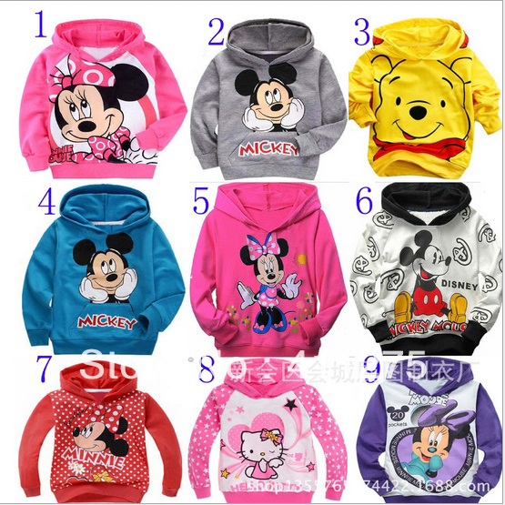 children/kids spring autumn top/tops boys girls hoodie hoodies colorful cartoon many styles