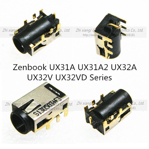 100pcs Free shipping DC Power Jack Connector For Laptop Asus Zenbook UX31A UX31A2 UX32A  UX32V UX32VD Series charging socket <br><br>Aliexpress