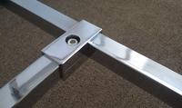 16PCS/LOT 2 way 25 * 25mm square tube clamp pipe chrome aluminum display fittings