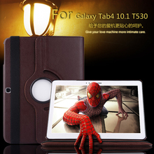 For Samsung Galaxy Tab 4 10.1 T530 T531 T535 Tablet PU Leather Case Cover Rotating w/ + Free Shipping