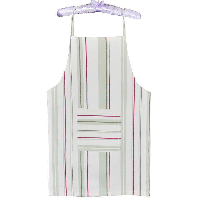 White Striped Sleeveless Kitchen Apron for Home Hotel Cotton Fabric Aprons for Woman Delantal Cocina Cooking Aprons Delantales(China (Mainland))