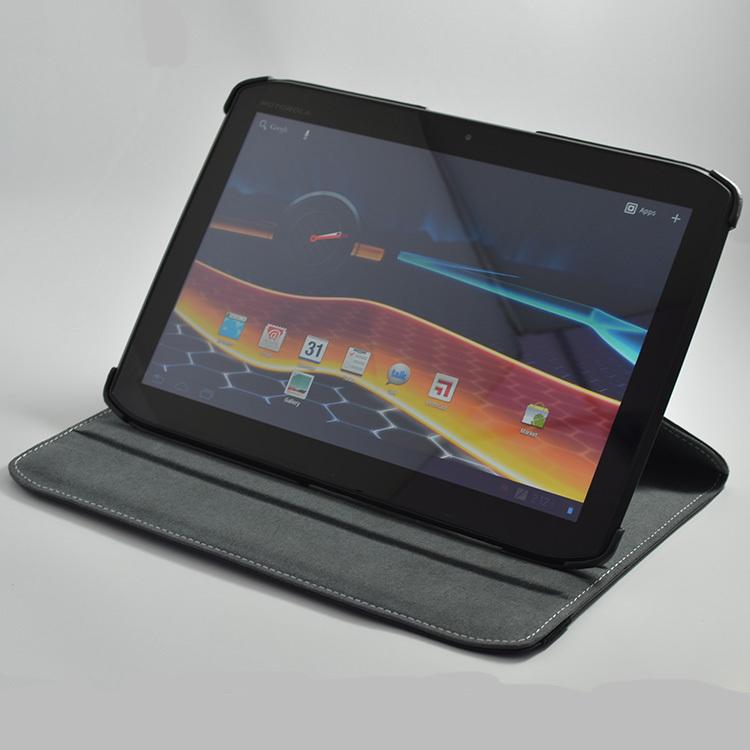 High Quality 360 Degree Rotating Stand Leather Case For Motorola XOOM 2 Droid Xyboard Media Editi XOOM2 MZ615 MZ616 10.1 inch(China (Mainland))