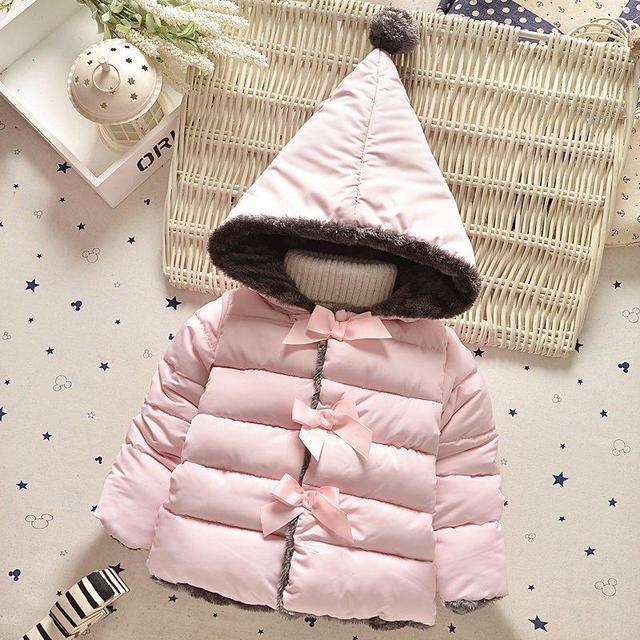 Высокое качество 2017 новой зимней одежды дети верхняя одежда новорожденных девочек парки мода Снег Одежда babys Толстовки clothing горячей продажи