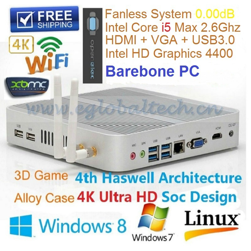 Cloud Computer Terminal Server Thin Client With Haswell CPU Intel Core i5 4200U HD Graphics 4400 Minipc HTPC Ram Dual-Channel(China (Mainland))