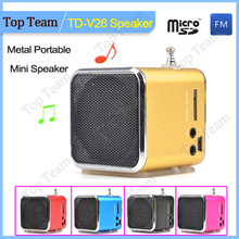 FM Raido MUSIC ANGEL MP3 portable speakers TD-V26 boombox Support USB DISK/TF card FM radio sound box mini portable loudspeaker(China (Mainland))
