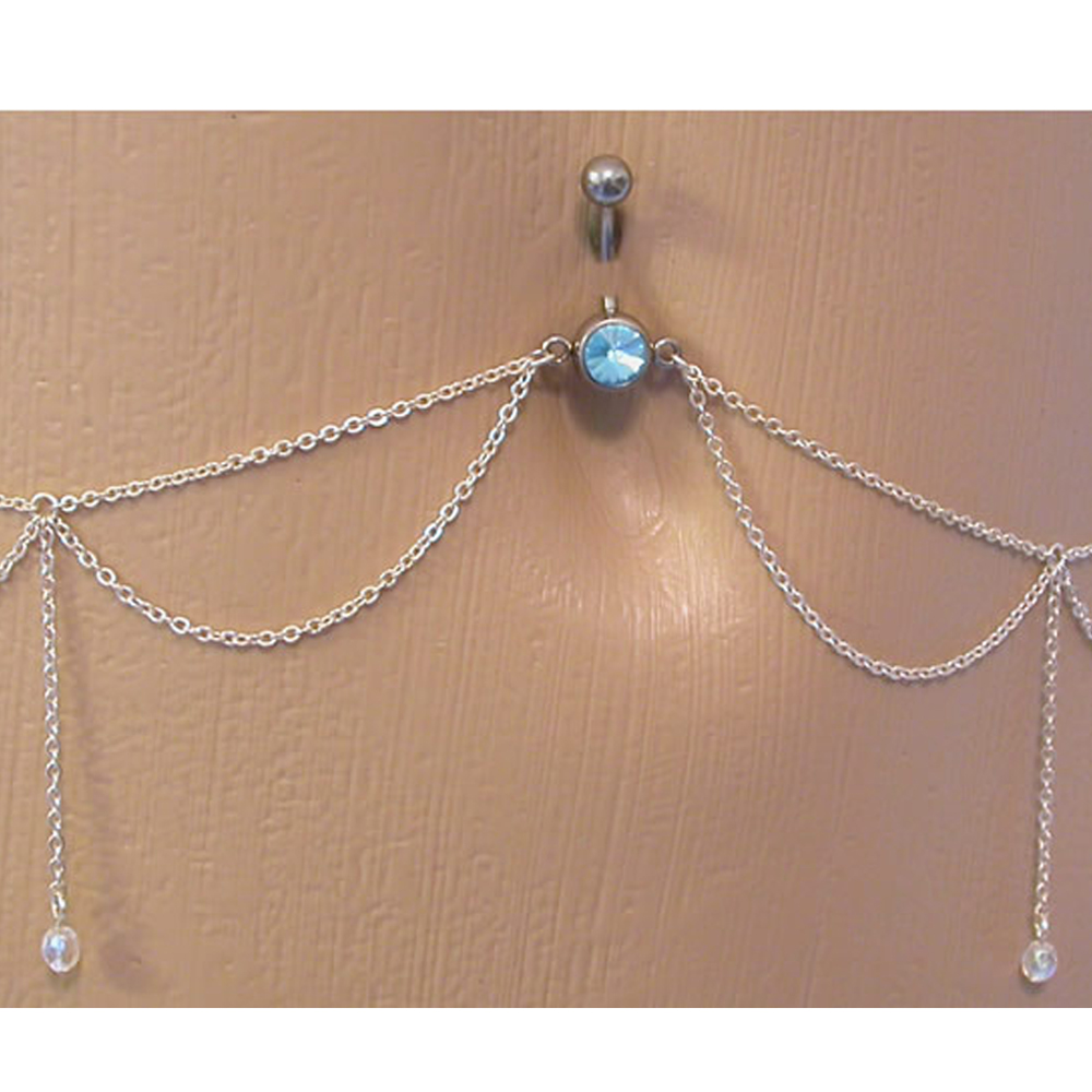 the gallery for gt belly button rings with waist chain