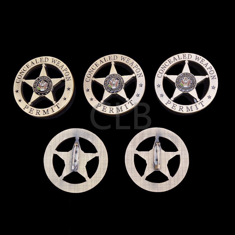 Wholesale American Five-pointed Star Ancient Coin Concealed Weapon Round Coin with Plastic Case for Home Decor and Gifts(China (Mainland))