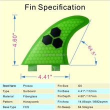 Green FCS G5 surf fins/surfboard fins fcs/fiberglass surf fins/future fins with Top quality(China (Mainland))