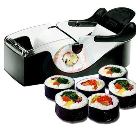 Hot Sale Easy Sushi Maker Roll Sushi Mold Model Roll Ball Cutter Roller Rice Mold DIY Kitchen Furniture Tool #0855(China (Mainland))