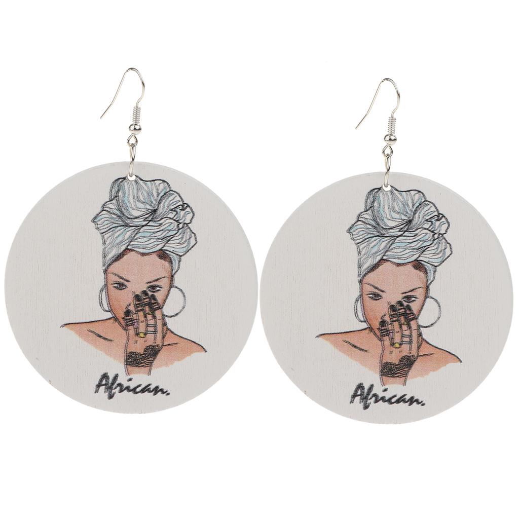 MagiDeal Модные женские богемные Бохо деревянные висячие ювелирные изделия MagiDeal Fashion Women Bohemian Boho Wooden Drop Jewellery African Earrings for Lady Gift