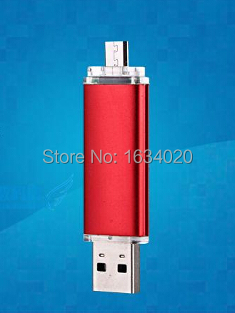 2015 New Metal OTG Mobile Pen Drive USB 2.0 Flash Drives External Storage Pendrives 64GB 32GB 16GB 8GB 4GB Computer U Stick Gift<br><br>Aliexpress