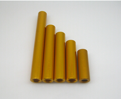 Length 45mm Diameter 5mm Aluminium Round Standoffs Yellow Female Spacer / Nuts Threads M3 Pitch 0.5 mm Metric Fastener<br><br>Aliexpress