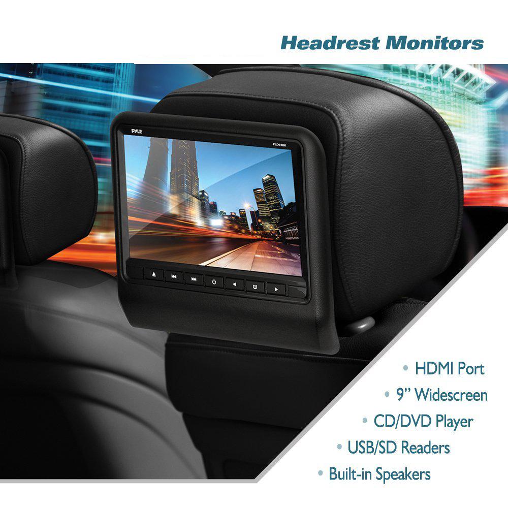 high grade Headrest Vehicle 9-Inch Video Display Monitor CD/DVD Player USB/SD Readers HDMI Port,universal all car(China (Mainland))
