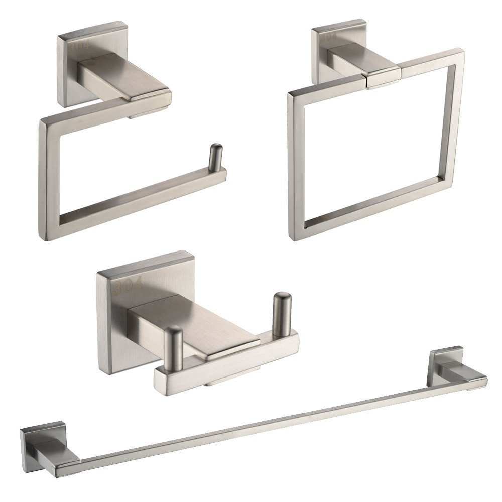 2015 limited sus304 stainless steel wall mount brushed for Bathroom hardware sets