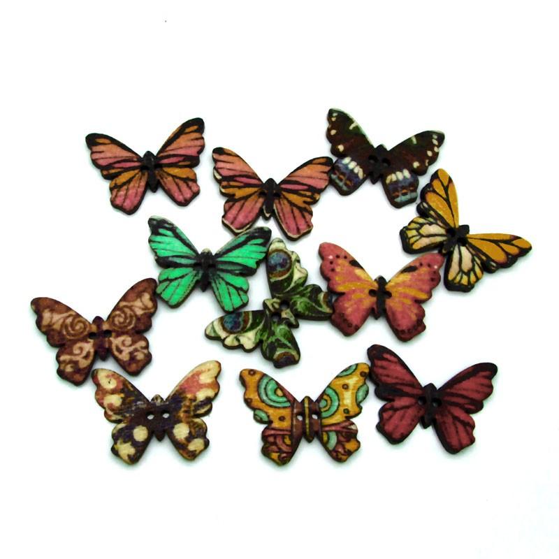 Деревянные бабочки 50 штук фото